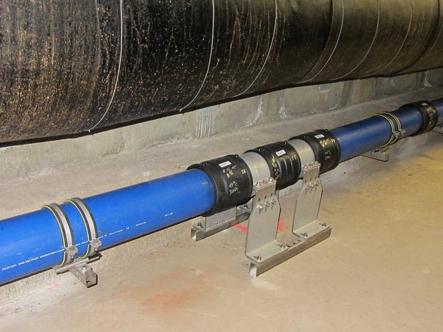 Verlegung von Trinkwasserleitungen in Kollektoren in Gera-Lusan und Bieblach
