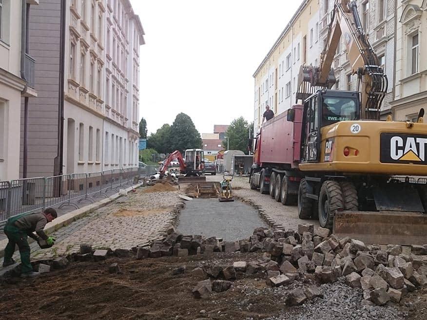 Gera, Nord- und Weststraße: Erneuerung Mischwassersammler und Straßeninstandsetzung
