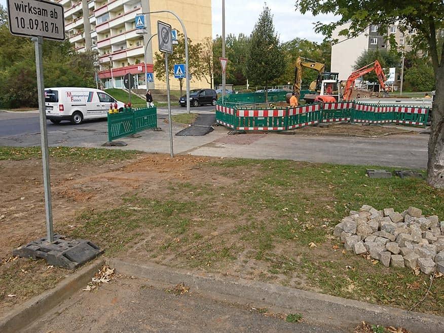 Gera, Rudolstädter Str.: Verlegung Mischwassersammler